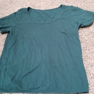 American Apparel forest green top
